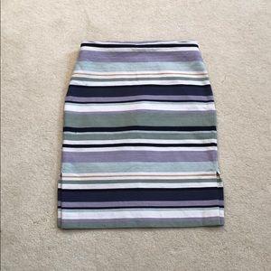 Loft Outlet Striped Pencil Skirt